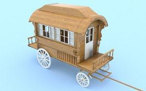 3D model caravan van