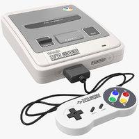 nintendo console joystick 3D model