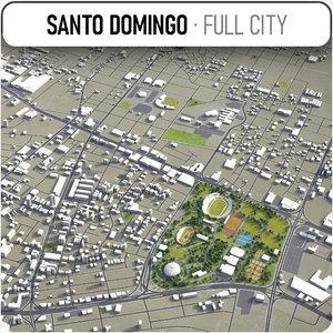 santo domingo surrounding - 3D model