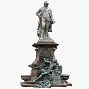 3D model lessing monument
