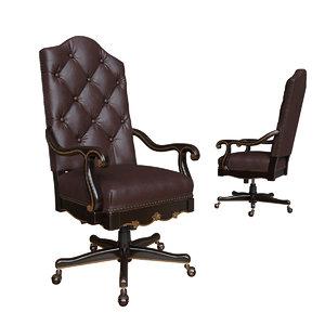 3D office chair grandover hooker model