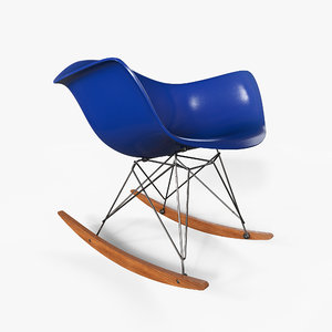3D model eames rocking chair