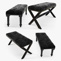 classic bench cross 3D model