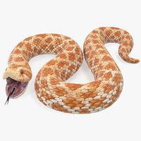 3D beige hognose snake rigged