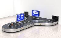airport claim transport 3D model