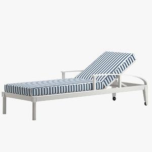 quadratl chaise lounge 3D model