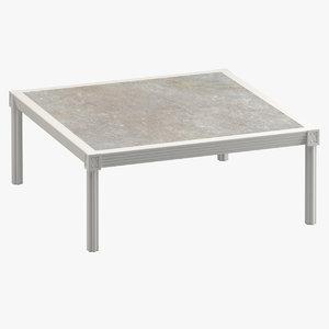 3D model quadratl coffee table