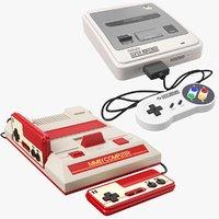 nintendo consoles joystick 3D model