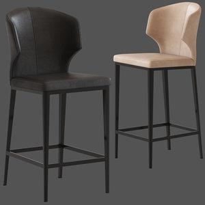 3D coco republic franco stool model