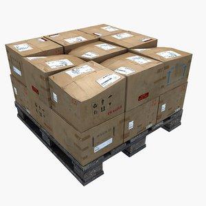 3D wooden pallet boxes