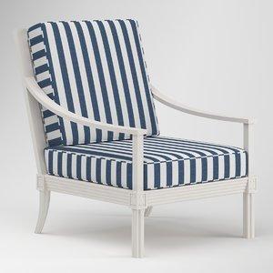 3D quadratl chaise lounge
