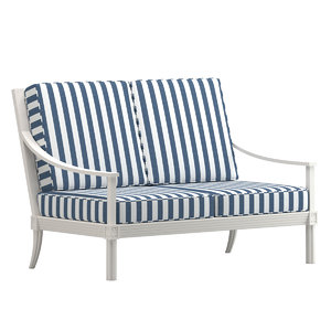 quadratl sofa 2 seat 3D model