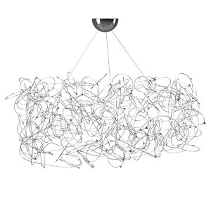 3D quasar curled chandelier