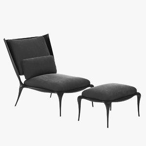 3D ralph pucci chair model