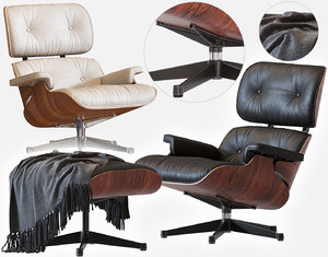 3D model eames lounge chair vitra