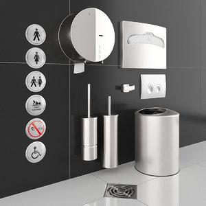 3D anti-vandal nofer toilet paper