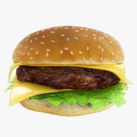Realistic Cheeseburger Hamburger Sandwich