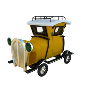3D cartoon car vintage