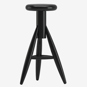 3D rocket baby stool model