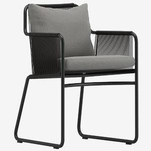 3D roda harp 395 armchair