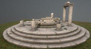 3D ancient ruins greek model