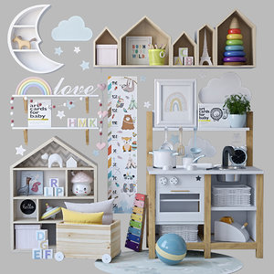 3D decorative set childroom model