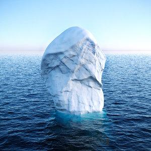 3D iceberg ice