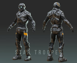 armor trooper 3D model