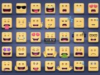 3D square emoticons
