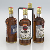 Alcohol Bottle Bacardi Anejo Cuatro Aged 4 Years Gold Rum 700ml 2020