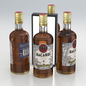 alcohol bottle rum 3D model
