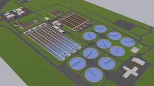 3D water sewage plant treatment