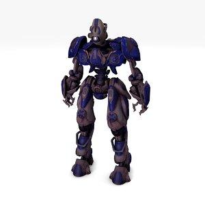 robot dotty v2 rigged 3D model
