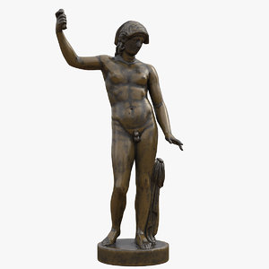 3D standing hermaphrodite bronze statue
