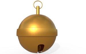 3D sleigh bells jingle model