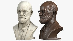 decorative bust sigmund freud 3d max