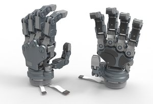 robot hand android 3D