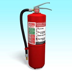 3D extinguisher tool industrial
