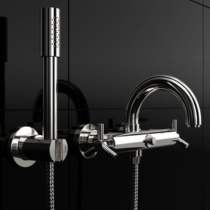 3D wall-mounted faucet grohe atrio