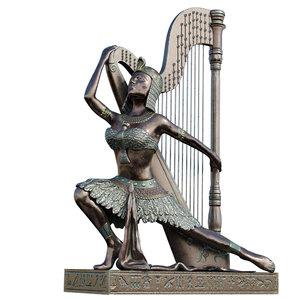 egyptian harp model
