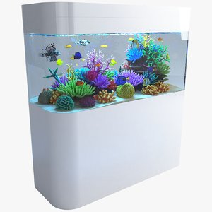 3D aquarium 06 model