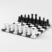 Modern Chess Pieces and Board Parts