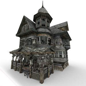 3D model abandoned house 01