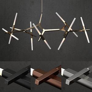 3D chandelier modern model