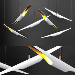 3D coltrane chandelier