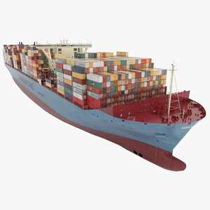 3D large container ship 18000 model