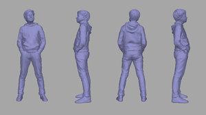 3D model scanned child
