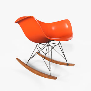 3D eames rocking chair model