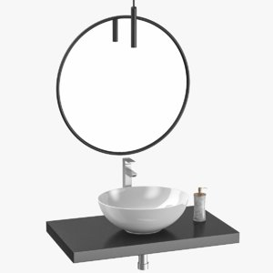 3D bathroom sink unit