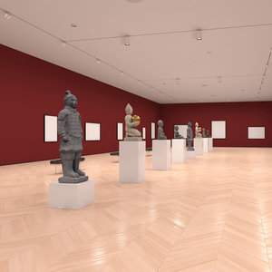 art gallery 3D model
